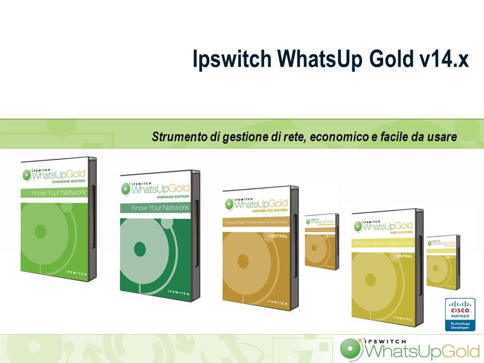© Ipswitch, Inc. Ipswitch WhatsUp Gold v14.x Strumento di gestione di rete, economico e facile da usare