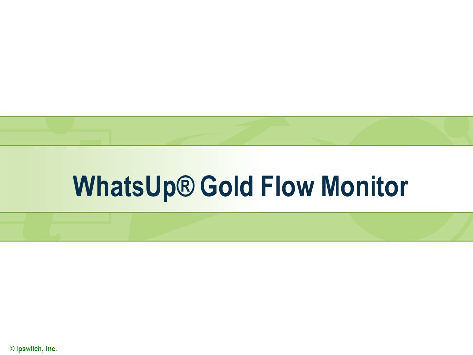 © Ipswitch, Inc. WhatsUp® Gold Flow Monitor