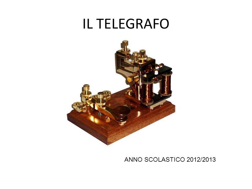 IL TELEGRAFO Il telegrafo è un apparecchio per la trasmissione di messaggi a distanza tramite la corrente elettrica, è lo strumento di comunicazione a base della telegrafia.