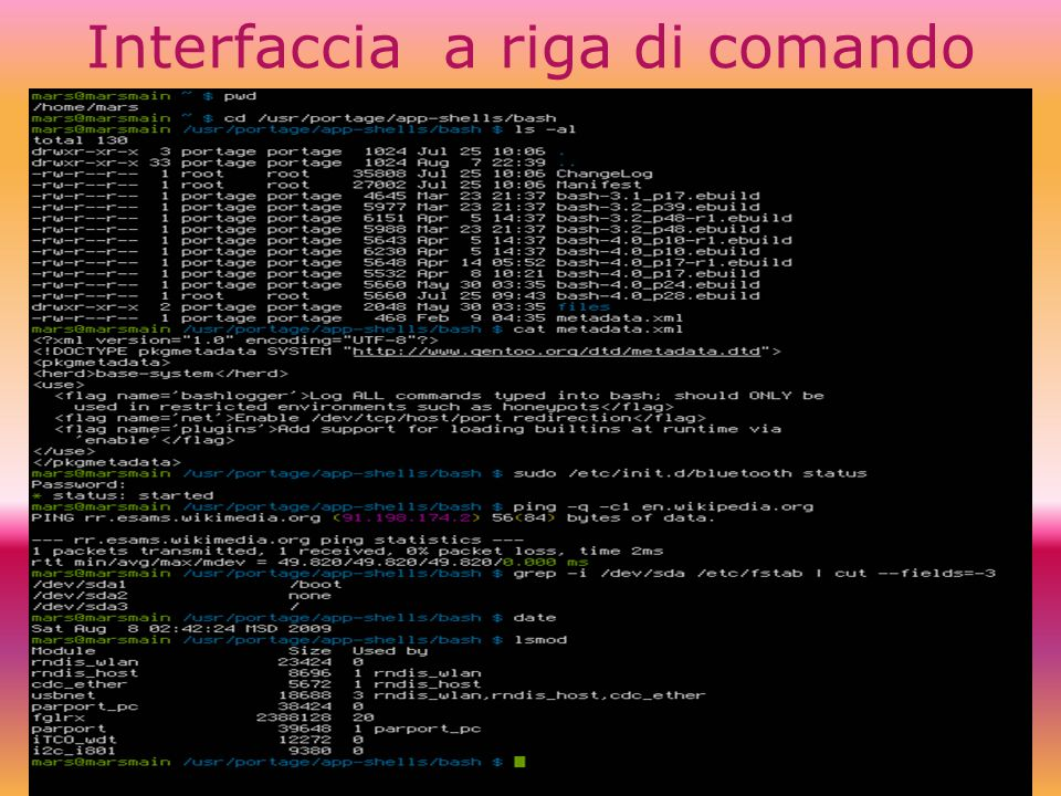Interfaccia a riga di comando