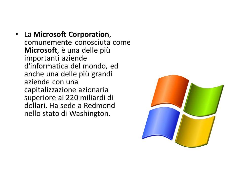 La Microsoft Corporation, comunemente conosciuta come Microsoft, è una delle più importanti aziende d'informatica del mondo, ed anche una delle più gr