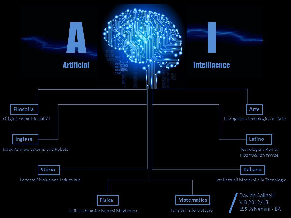 Filosofia Inglese Origini e dibattito sullAI Isaac Asimov, automs and Robots A Artificial I Intelligence Storia La terza Rivoluzione Industriale Fisic