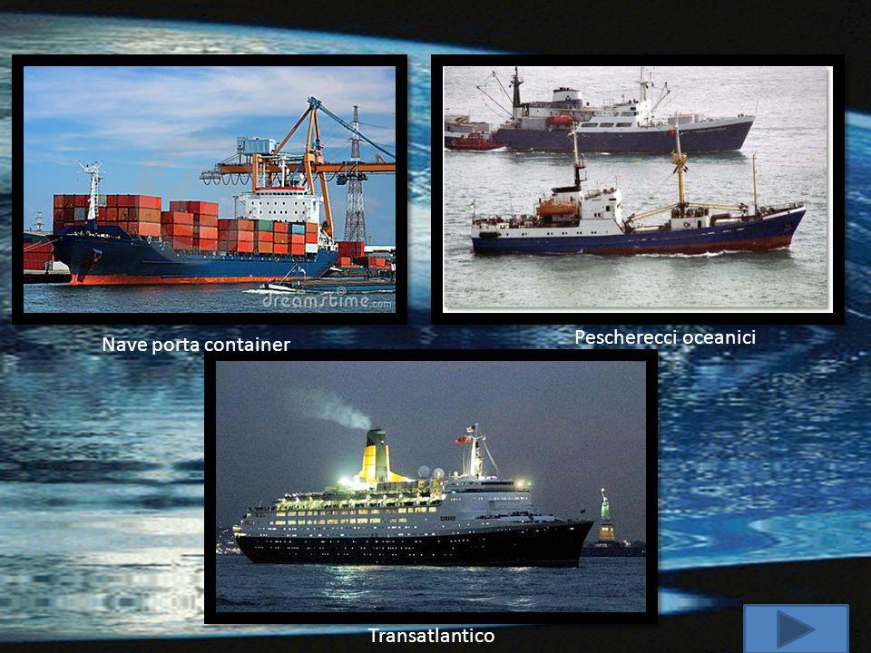 Nave porta container Pescherecci oceanici Transatlantico