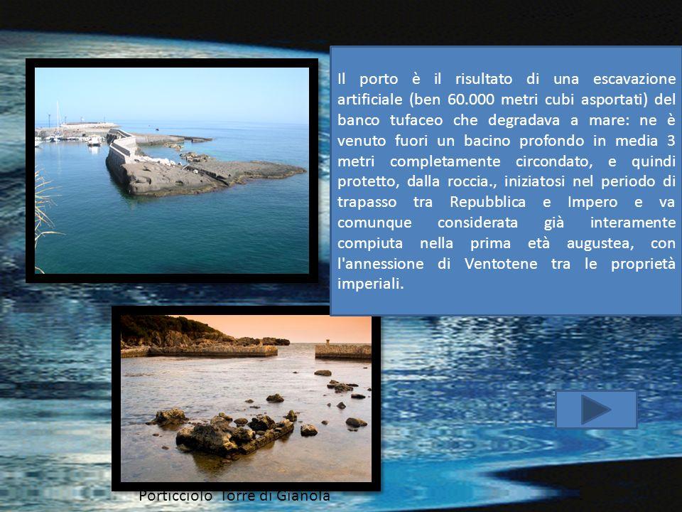 Porticciolo Torre di Gianola Il porto è il risultato di una escavazione artificiale (ben 60.000 metri cubi asportati) del banco tufaceo che degradava