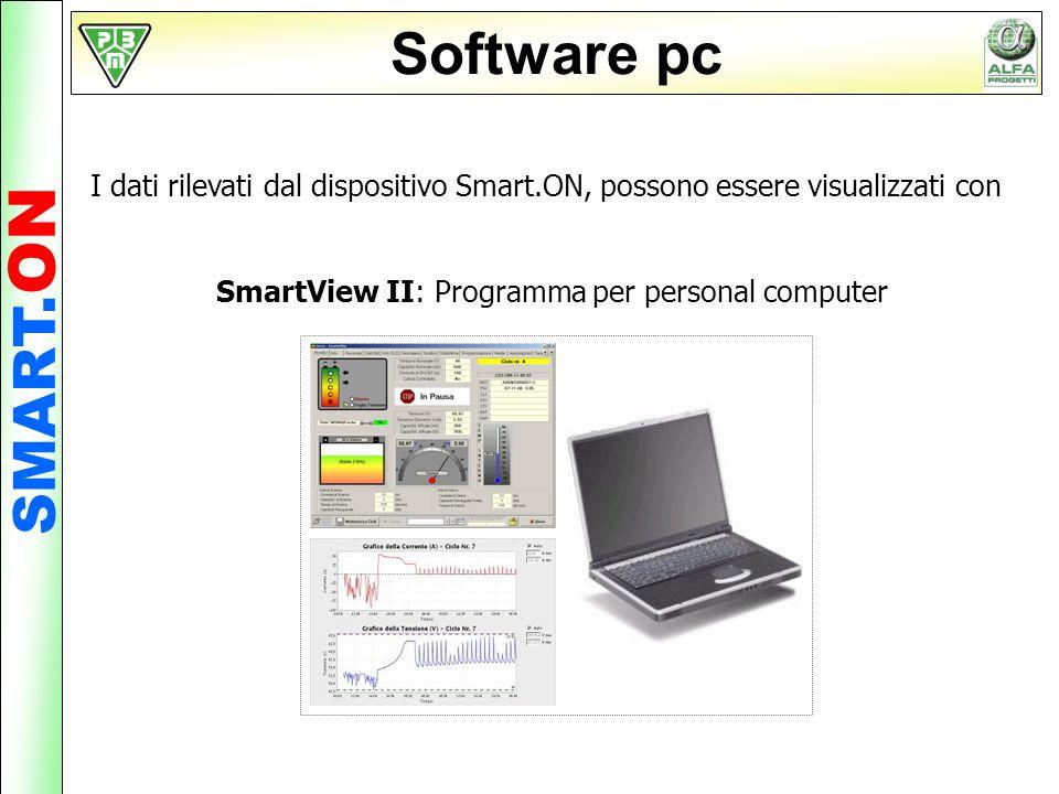 Software pc I dati rilevati dal dispositivo Smart.ON, possono essere visualizzati con SmartView II: Programma per personal computer SMART. ON