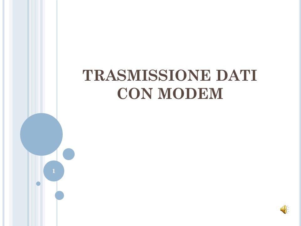 I L MODEM 4/6 Nella terminologia dei MODEM si parla di velocità di trasmissione esprimendola in bit/s o simboli/s (baud).