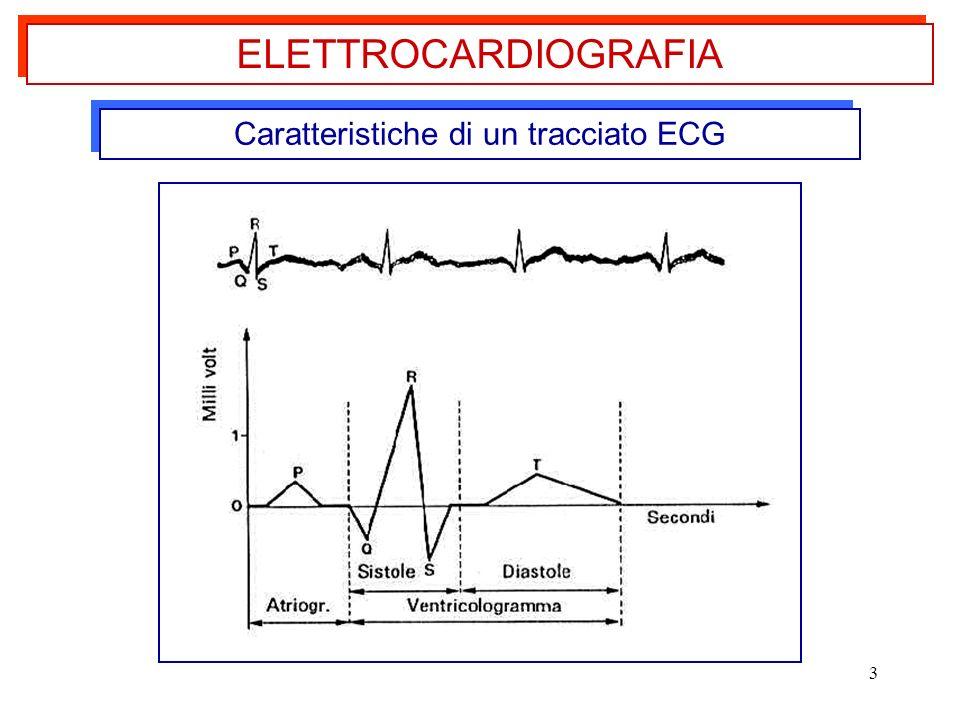 3 Caratteristiche di un tracciato ECG ELETTROCARDIOGRAFIA