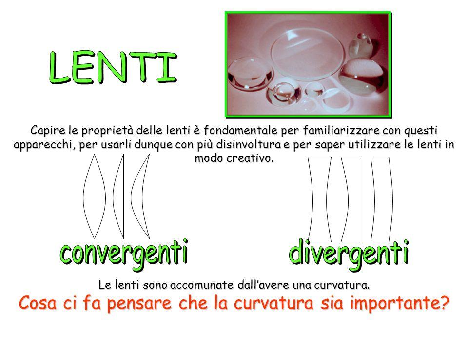 Una lente dingrandimento fatta dacqua è uno strumento piuttosto scomodo ma significativo per giustificare la curvatura.