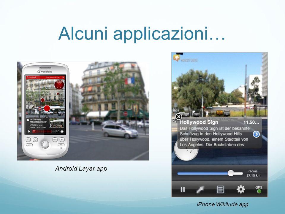 Alcuni applicazioni… iPhone Wikitude app Android Layar app