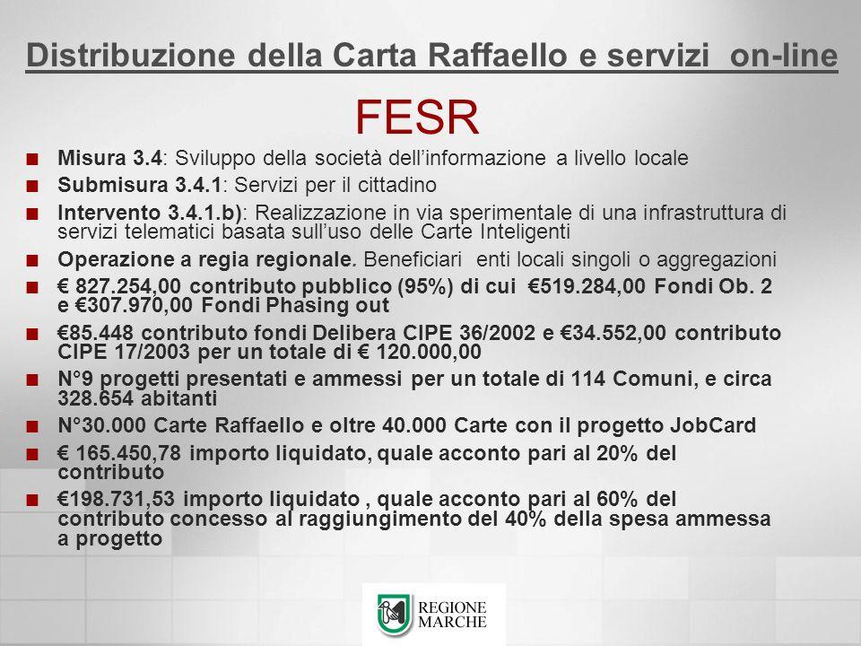 FESR Misura 3.4: Sviluppo della società dellinformazione a livello locale Submisura 3.4.1: Servizi per il cittadino Intervento 3.4.1.b): Realizzazione