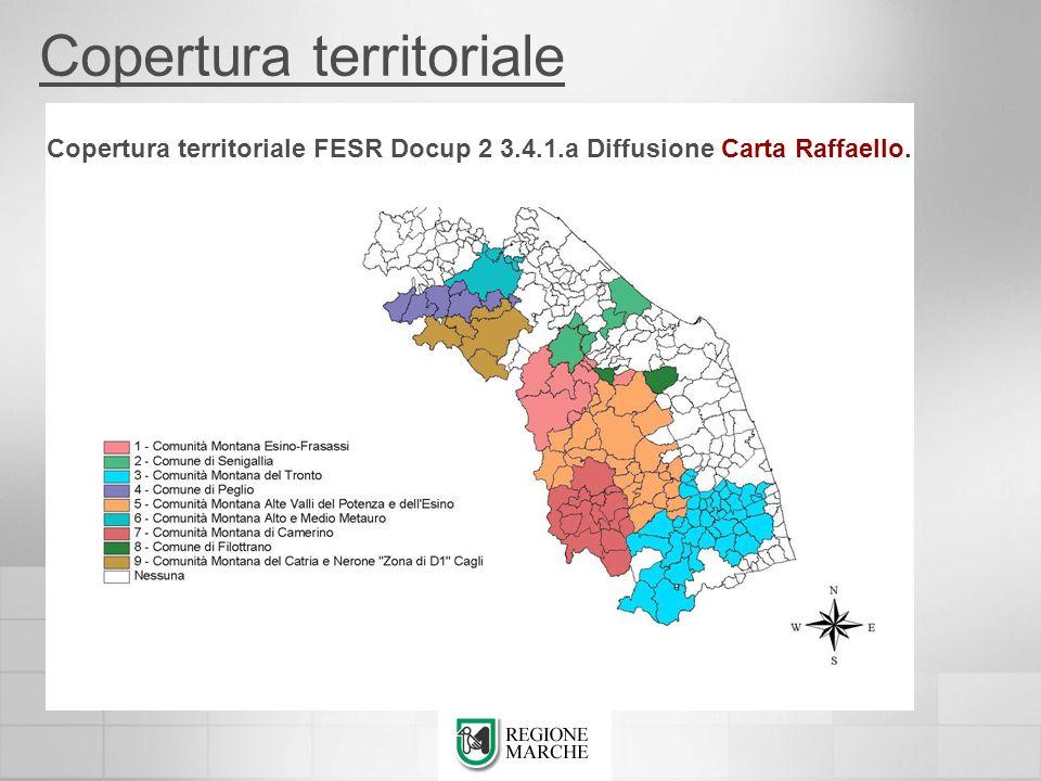 Copertura territoriale FESR Docup 2 3.4.1.a Diffusione Carta Raffaello. Copertura territoriale