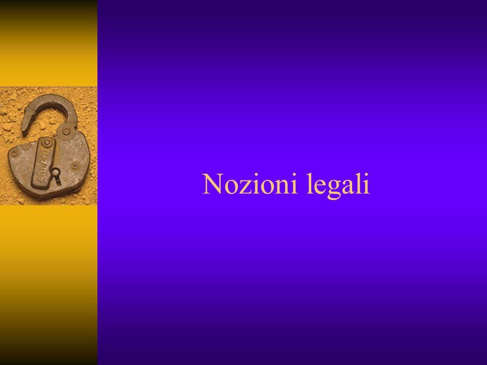 Nozioni legali