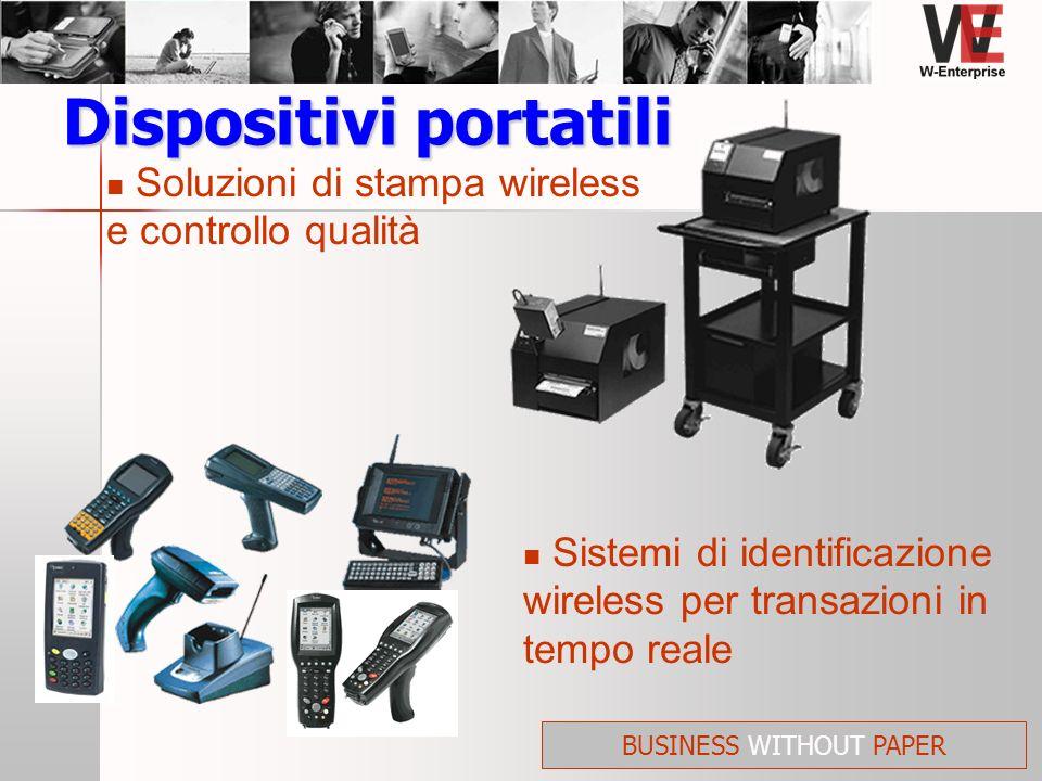 Soluzioni di stampa wireless e controllo qualità Dispositivi portatili Sistemi di identificazione wireless per transazioni in tempo reale BUSINESS WIT