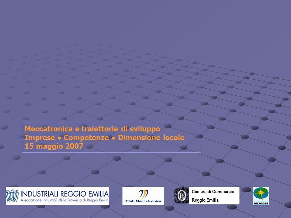 Meccatronica e traiettorie di sviluppo Imprese Competenze Dimensione locale 15 maggio 2007 Camera di Commercio Reggio Emilia