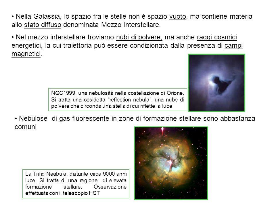 Nella Galassia, lo spazio fra le stelle non è spazio vuoto, ma contiene materia allo stato diffuso denominata Mezzo Interstellare.