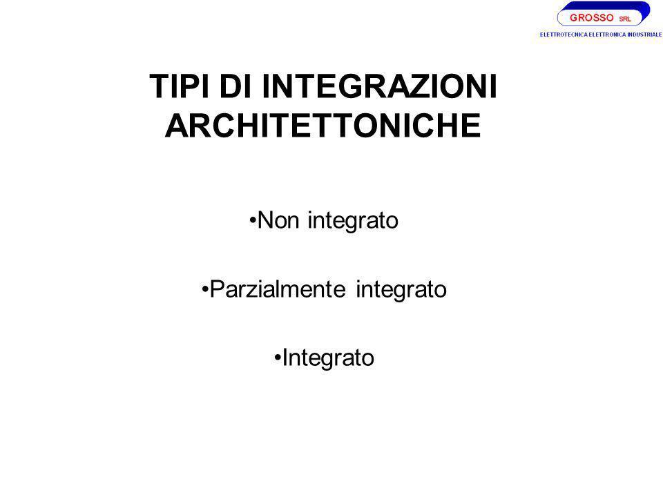 TIPI DI INTEGRAZIONI ARCHITETTONICHE Non integrato Parzialmente integrato Integrato