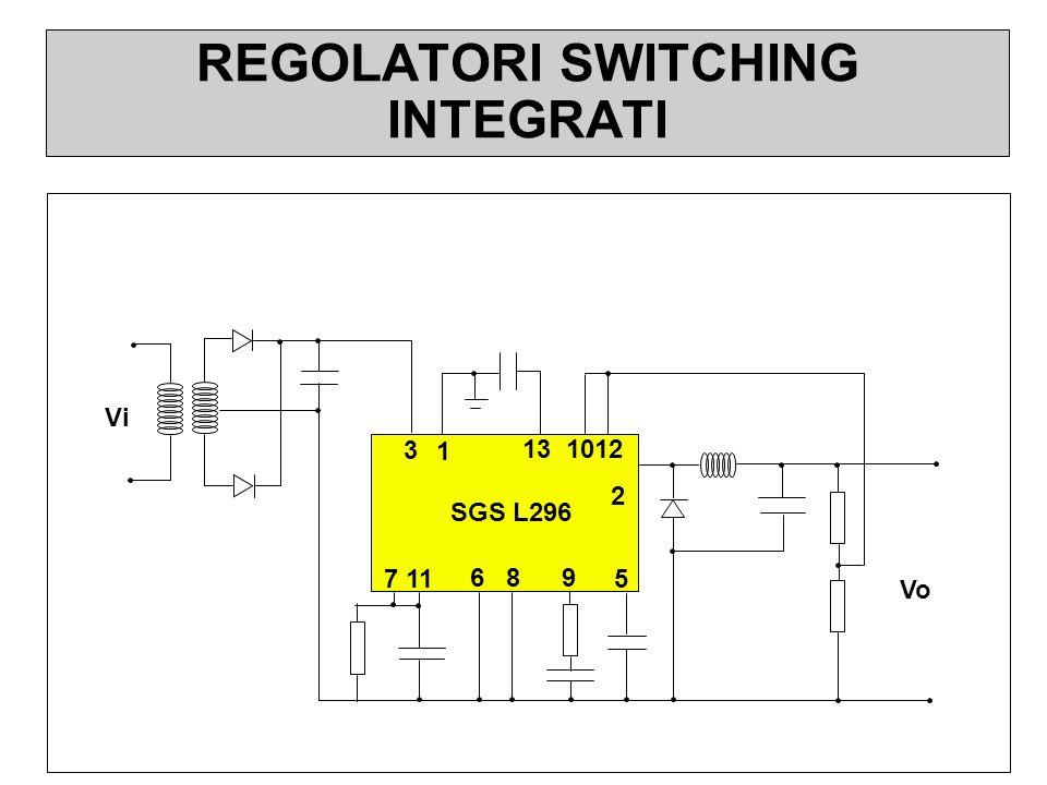 REGOLATORI SWITCHING INTEGRATI 7 11 6 8 9 2 13 1012 3 5 SGS L296 Vo Vi 1