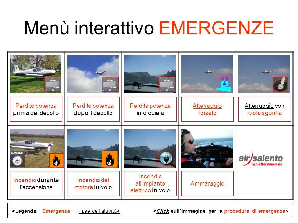 Air Salento volo training Sequenza 1 Perdita di potenza prima del decollo (da CHECK LIST EMERGENZE – Pioneer 200)
