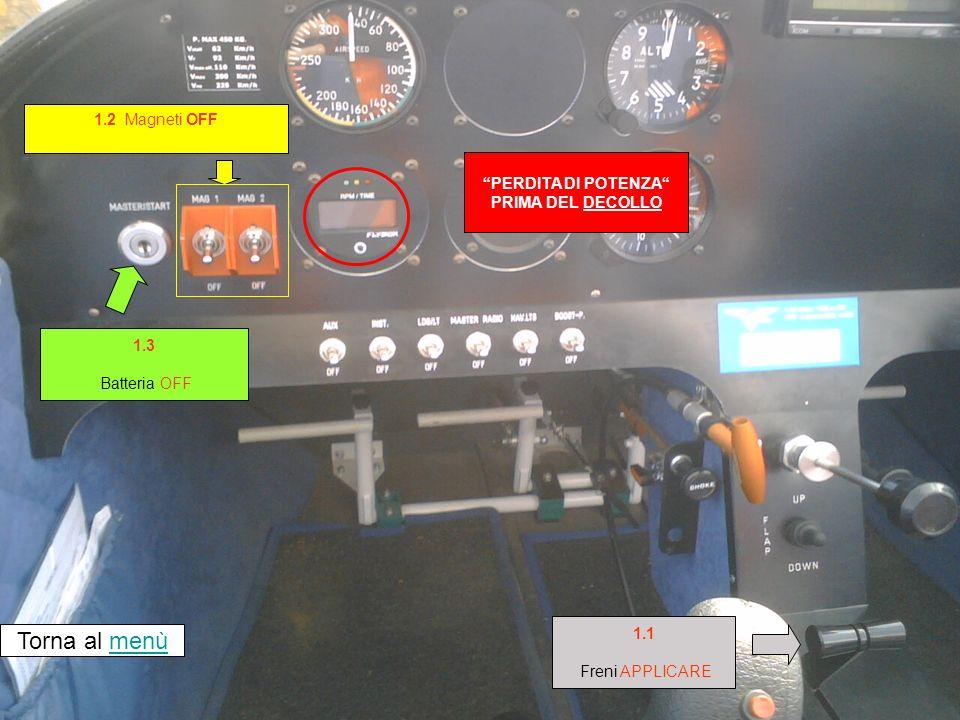 Air Salento volo training Sequenza 2 Perdita di potenza dopo il decollo a) se la pista disponibile consente latterraggio (da CHECK LIST EMERGENZE – Pioneer 200)