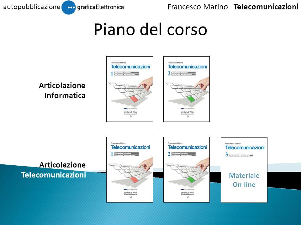 Articolazione Telecomunicazioni Articolazione Informatica Piano del corso Francesco Marino Telecomunicazioni autopubblicazione Materiale On-line