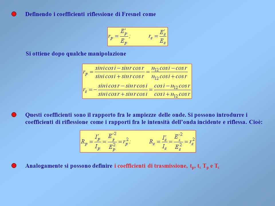 Le condizioni di continuità alla superficie di separazione impongono che le componenti tangenziali dei campi elettrico e magnetico siano continue. Que