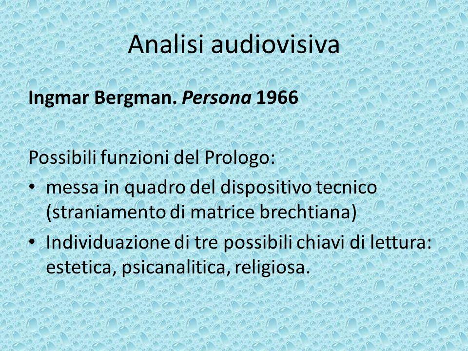 Analisi audiovisiva Ingmar Bergman.