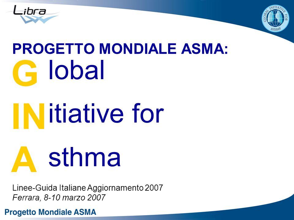 PROGETTO MONDIALE ASMA: Linee-Guida Italiane Aggiornamento 2007 Ferrara, 8-10 marzo 2007 G IN A lobal itiative for sthma