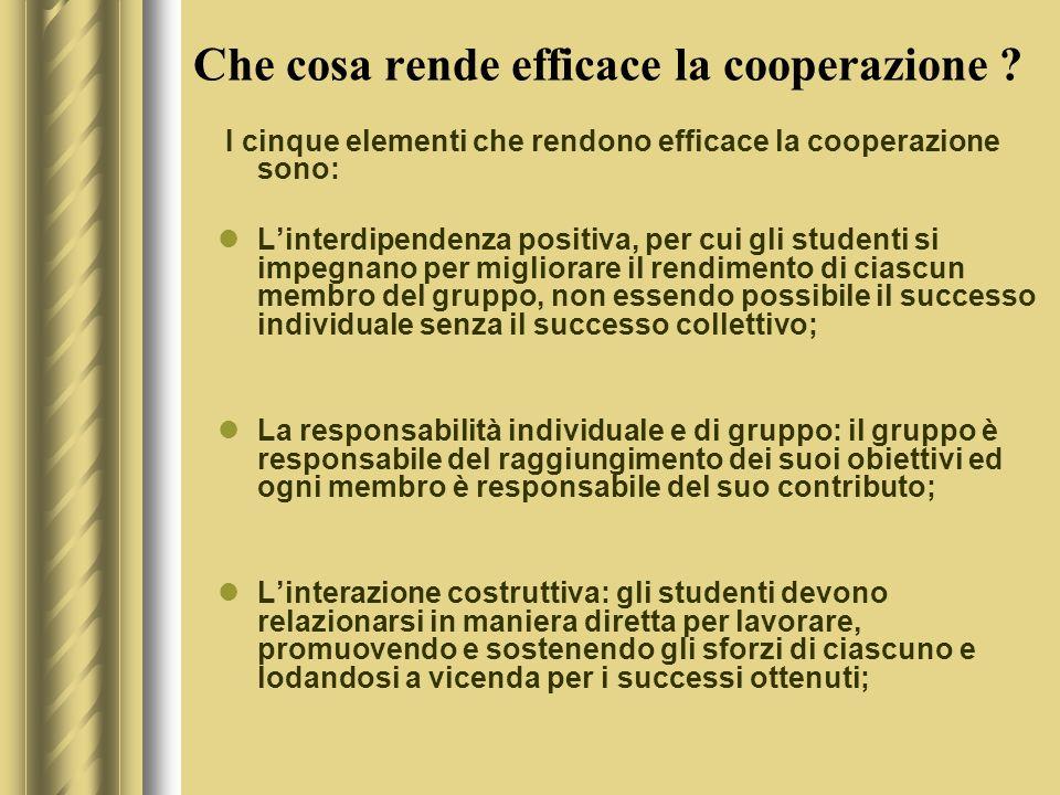 Che cosa rende efficace la cooperazione .