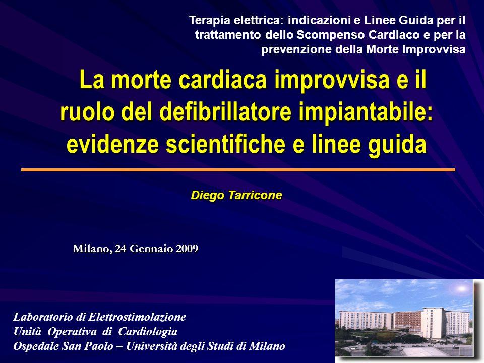 MORTE IMPROVVISA Morte naturale di origine cardiaca inattesa e istantanea o entro 1 ora dalla insorgenza dei sintomi.