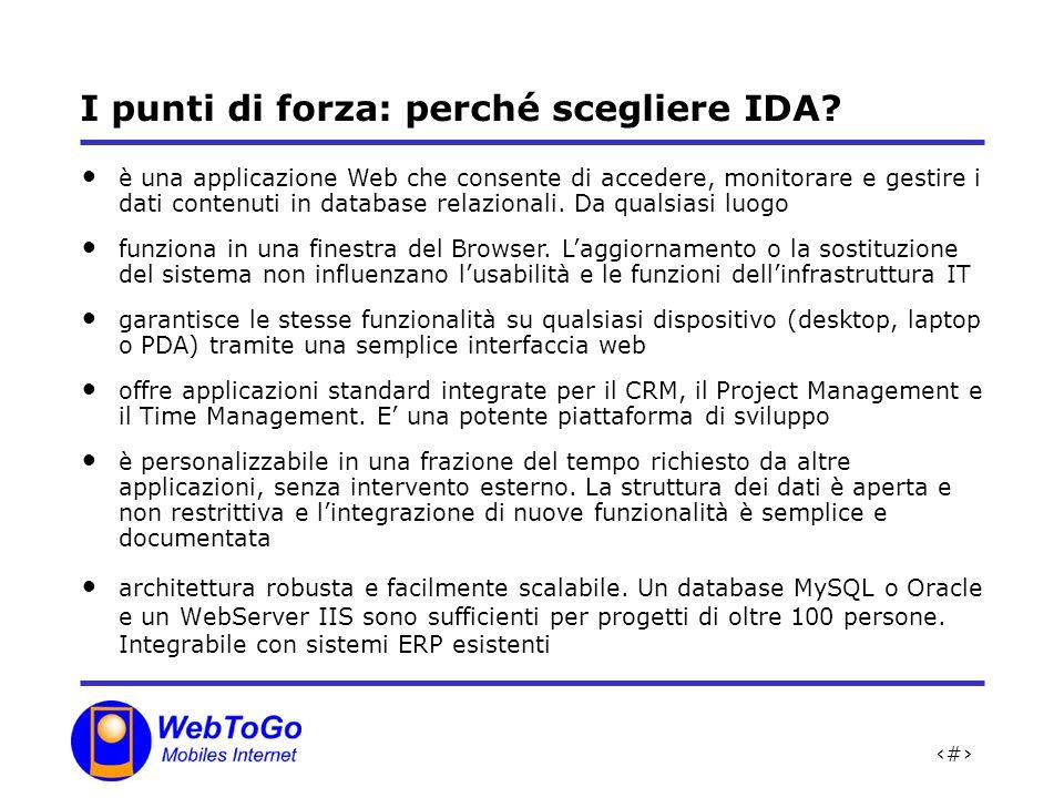 24 I punti di forza: perché scegliere IDA.architettura robusta e facilmente scalabile.