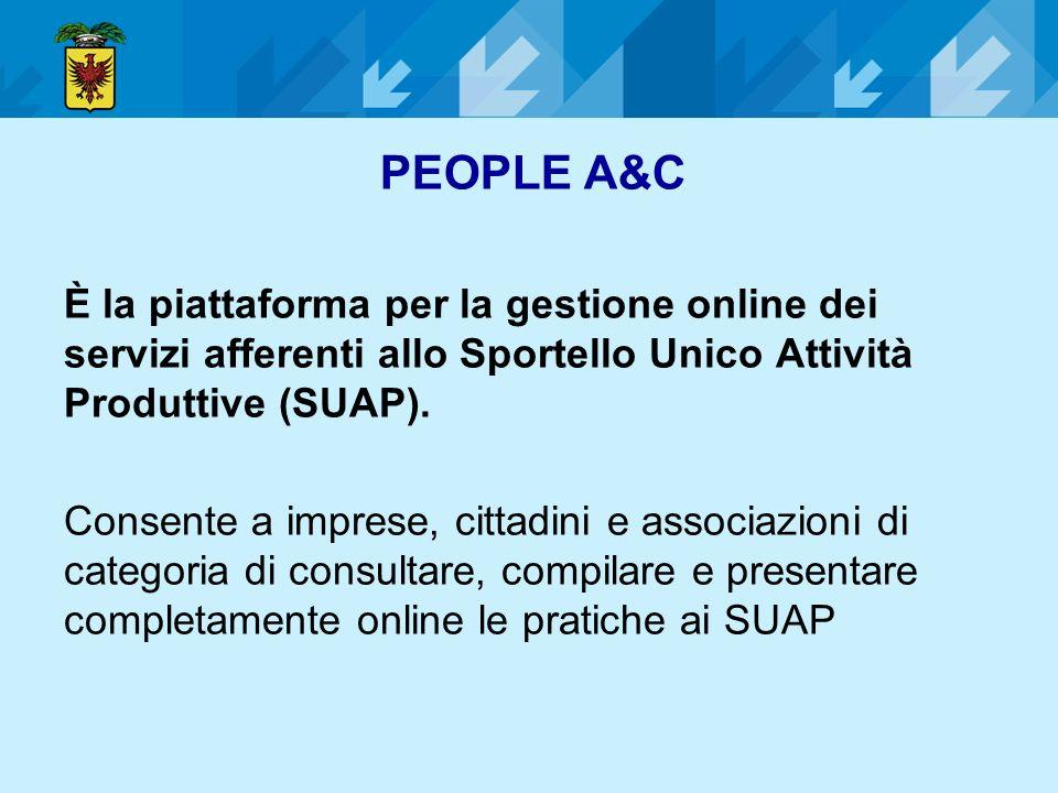 È la piattaforma per la gestione online dei servizi afferenti allo Sportello Unico Attività Produttive (SUAP). Consente a imprese, cittadini e associa