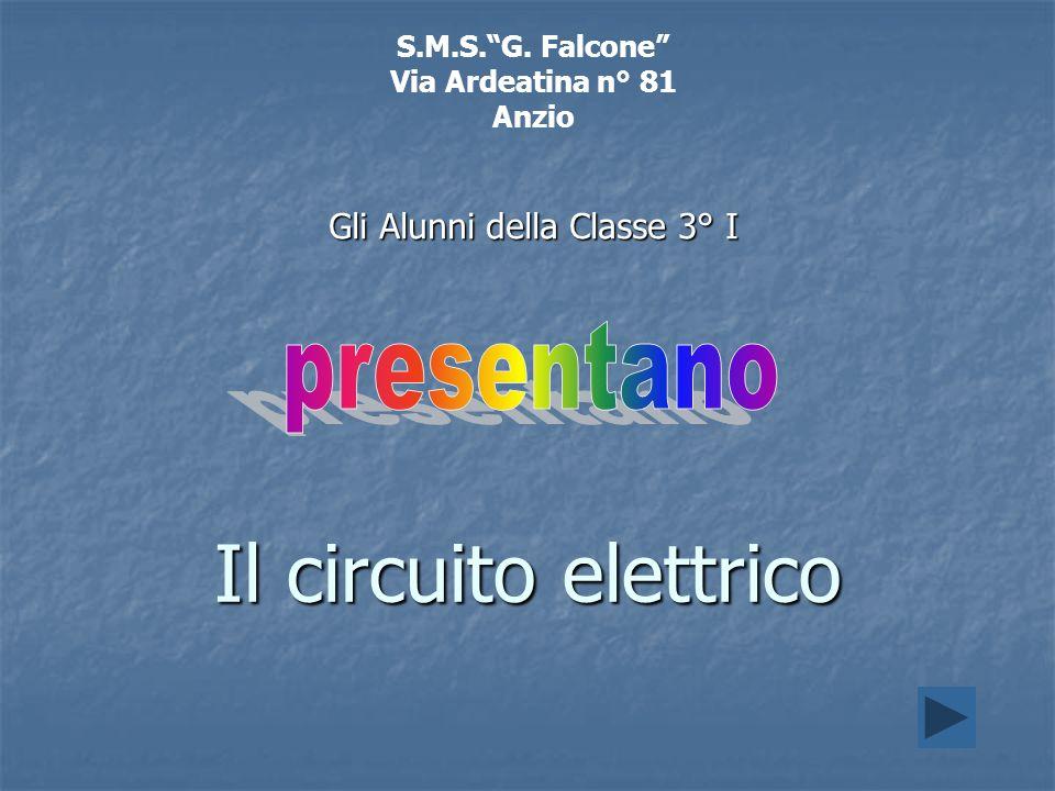 Il circuito elettrico S.M.S.G. Falcone Via Ardeatina n° 81 Anzio Gli Alunni della Classe 3° I