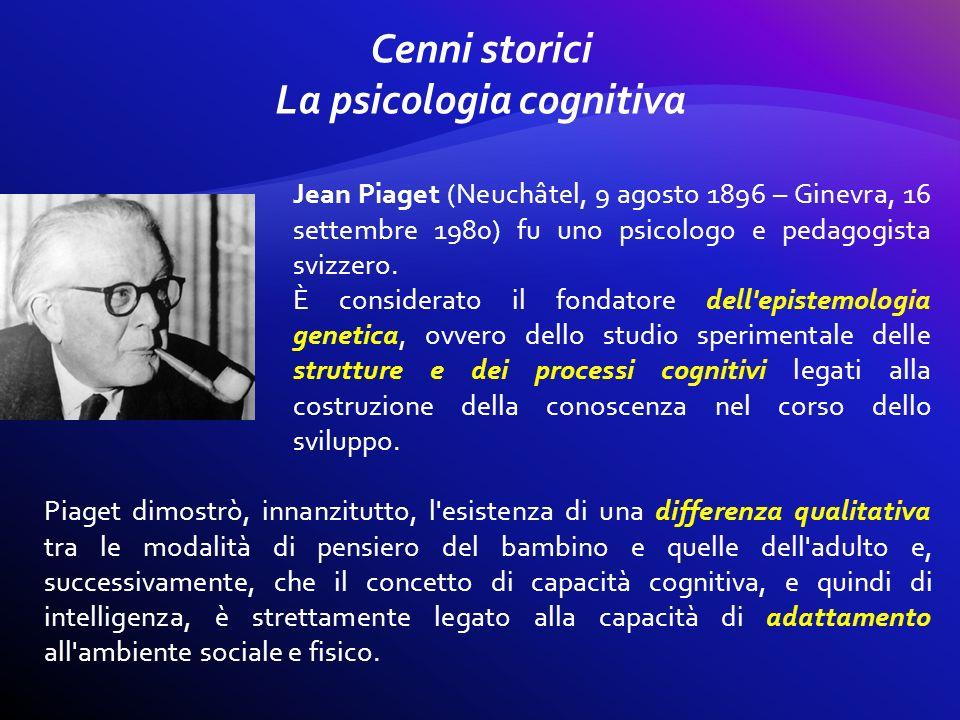 Piaget dimostrò, innanzitutto, l'esistenza di una differenza qualitativa tra le modalità di pensiero del bambino e quelle dell'adulto e, successivamen