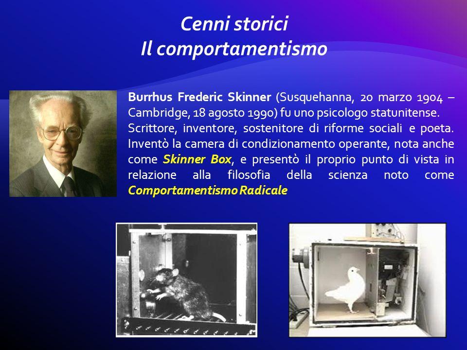 Burrhus Frederic Skinner (Susquehanna, 20 marzo 1904 – Cambridge, 18 agosto 1990) fu uno psicologo statunitense. Scrittore, inventore, sostenitore di