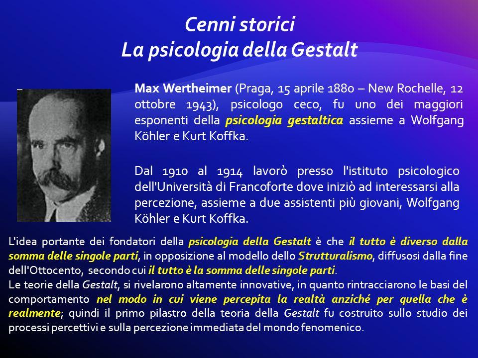 Max Wertheimer (Praga, 15 aprile 1880 – New Rochelle, 12 ottobre 1943), psicologo ceco, fu uno dei maggiori esponenti della psicologia gestaltica assi