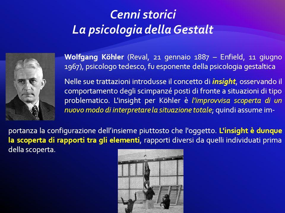 Wolfgang Köhler (Reval, 21 gennaio 1887 – Enfield, 11 giugno 1967), psicologo tedesco, fu esponente della psicologia gestaltica Nelle sue trattazioni