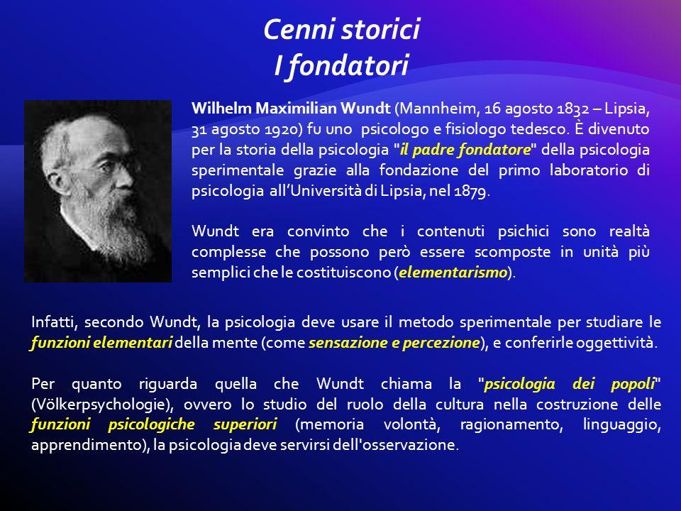 Wilhelm Maximilian Wundt (Mannheim, 16 agosto 1832 – Lipsia, 31 agosto 1920) fu uno psicologo e fisiologo tedesco. È divenuto per la storia della psic