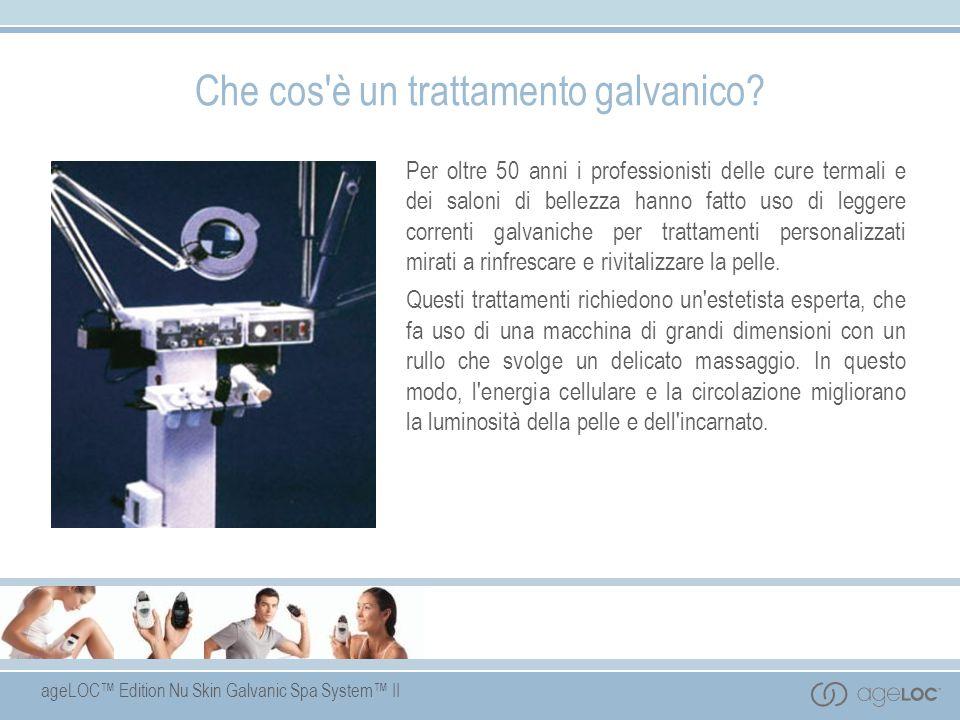 ageLOC Edition Nu Skin Galvanic Spa System II Che cos'è un trattamento galvanico? Per oltre 50 anni i professionisti delle cure termali e dei saloni d