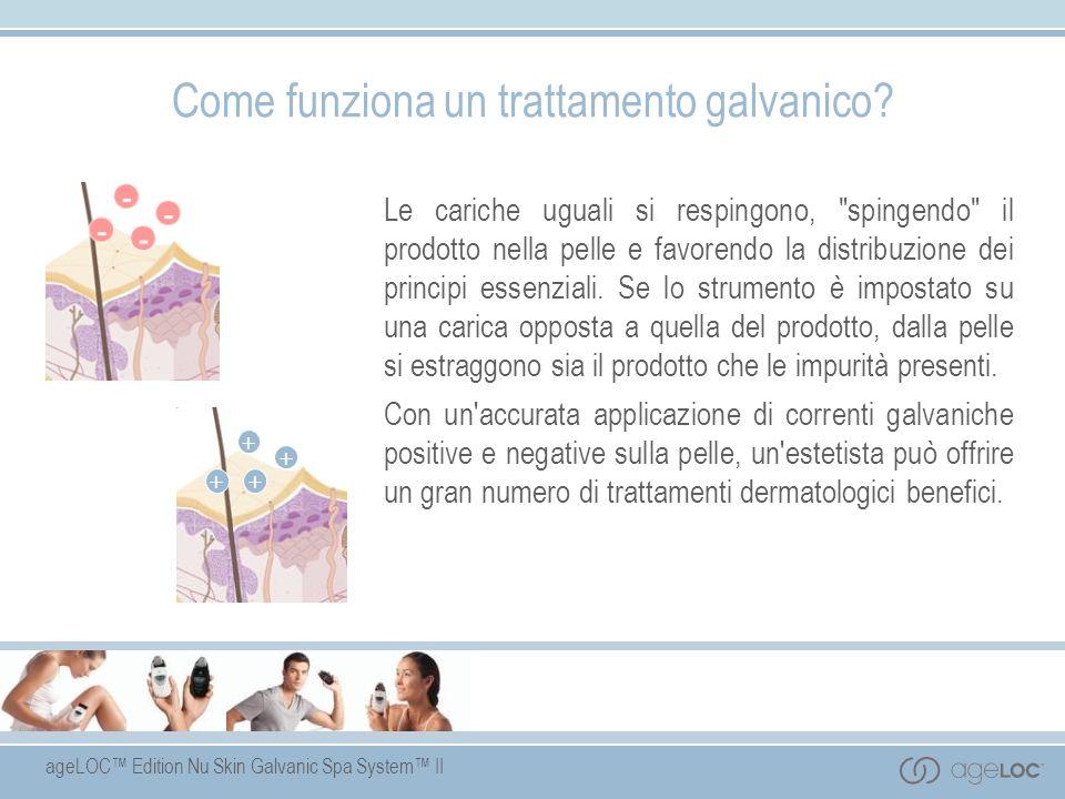 ageLOC Edition Nu Skin Galvanic Spa System II Come funziona un trattamento galvanico? Le cariche uguali si respingono,