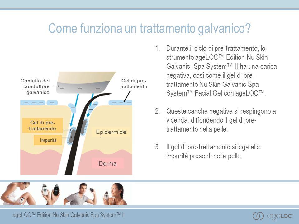 ageLOC Edition Nu Skin Galvanic Spa System II 1. Durante il ciclo di pre-trattamento, lo strumento ageLOC Edition Nu Skin Galvanic Spa System II ha un