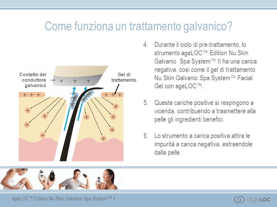 ageLOC Edition Nu Skin Galvanic Spa System II 4. Durante il ciclo di pre-trattamento, lo strumento ageLOC Edition Nu Skin Galvanic Spa System II ha un