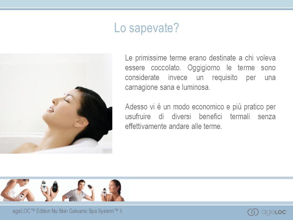 ageLOC Edition Nu Skin Galvanic Spa System II Gel di pre- trattamento Ingredienti essenziali Estratto di calendula lenisce e calma la pelle.