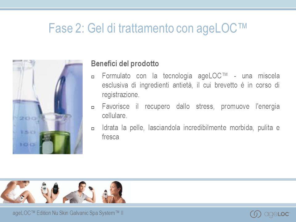 ageLOC Edition Nu Skin Galvanic Spa System II Benefici del prodotto Formulato con la tecnologia ageLOC - una miscela esclusiva di ingredienti antietà,
