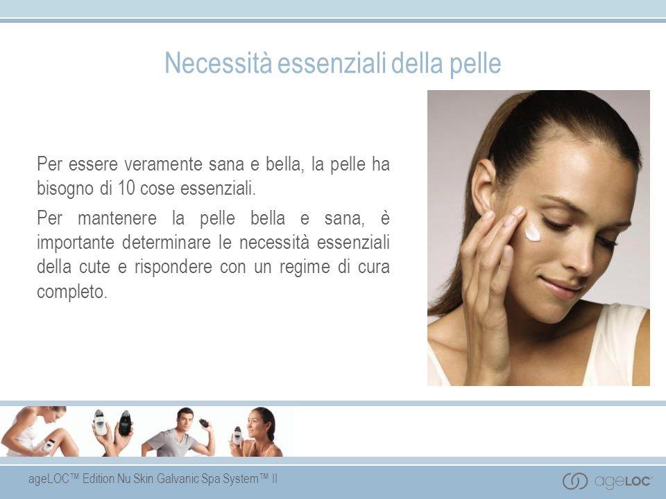 ageLOC Edition Nu Skin Galvanic Spa System II Necessità essenziali della pelle Per essere veramente sana e bella, la pelle ha bisogno di 10 cose essen