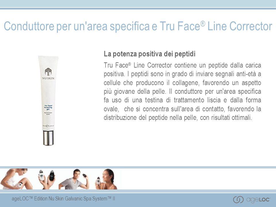 ageLOC Edition Nu Skin Galvanic Spa System II Conduttore per un'area specifica e Tru Face ® Line Corrector La potenza positiva dei peptidi Tru Face ®
