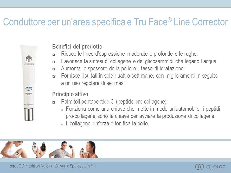 ageLOC Edition Nu Skin Galvanic Spa System II Benefici del prodotto Riduce le linee d'espressione moderate e profonde e le rughe. Favorisce la sintesi