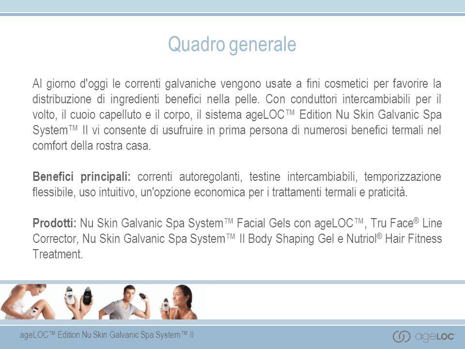ageLOC Edition Nu Skin Galvanic Spa System II Quadro generale Al giorno d'oggi le correnti galvaniche vengono usate a fini cosmetici per favorire la d