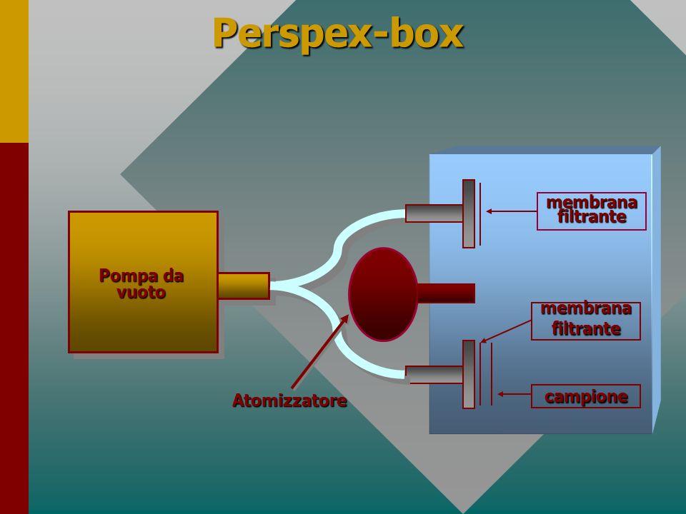 Perspex-box Pompa da vuoto Atomizzatore membrana filtrante campione