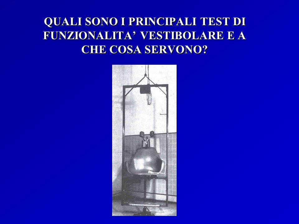 QUALI SONO I PRINCIPALI TEST DI FUNZIONALITA VESTIBOLARE E A CHE COSA SERVONO?
