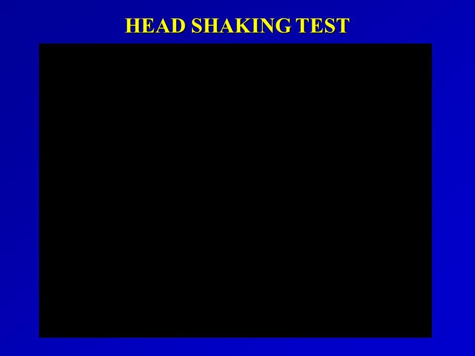 HEAD SHAKING TEST